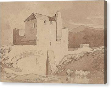 An Old Building Canvas Print by John Sell Cotman