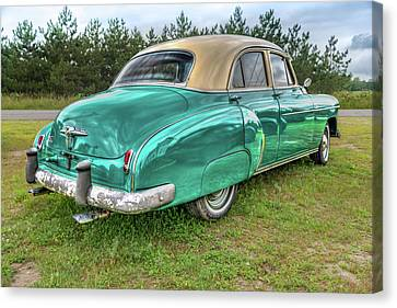 Canvas Print featuring the photograph An Old Chevy By The Road In Rural Maine by Guy Whiteley