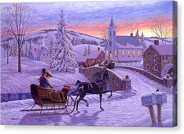 An Old Fashioned Christmas Canvas Print by Richard De Wolfe