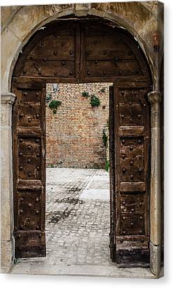 An Old Wooden Door 2 Canvas Print by Andrea Mazzocchetti