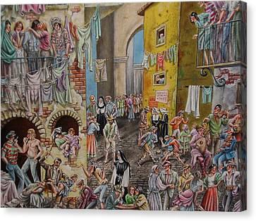 An Ordinary Day Canvas Print by Eric de Kolb