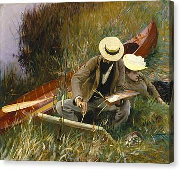 An Out Of Doors Study Canvas Print by John Singer Sargent