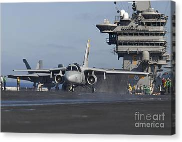 An S-3b Viking Prepares To Launch Canvas Print by Stocktrek Images