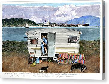 Anacortes Fuel Canvas Print by Perry Woodfin
