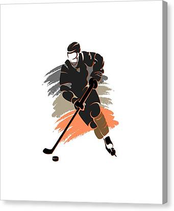 Anaheim Ducks Player Shirt Canvas Print by Joe Hamilton