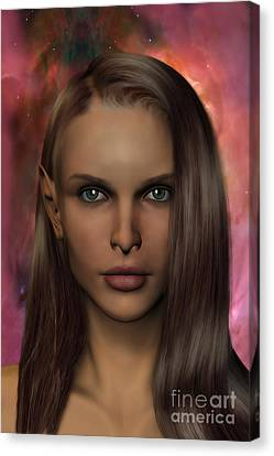 Anaire Child Of Iluvatar Canvas Print by John Edwards
