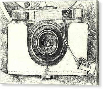 Analog Camera Canvas Print by Jovana Babic