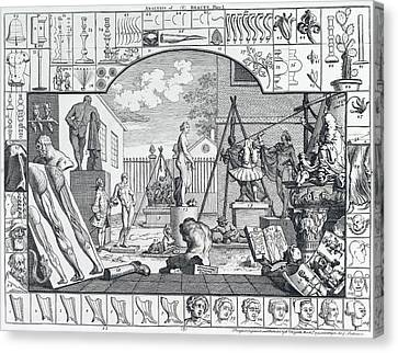 Analysis Of Beauty Engraving By Hogarth  1753 Canvas Print by Daniel Hagerman