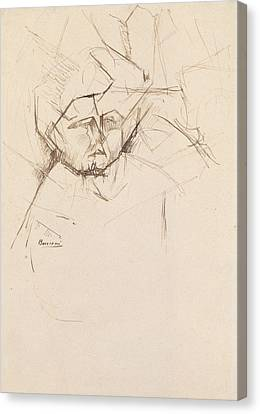 Boccioni Canvas Print - Analytical Study Of A Woman's Head Against Buildings by Umberto Boccioni