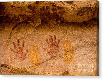 Anasazi Painted Handprints - Utah Canvas Print by Gary Whitton