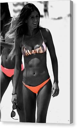 Surfing Magazine Canvas Print - Anastasia Ashley by Brian Reaves