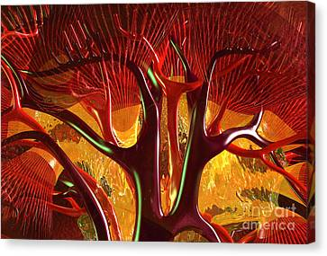 Canvas Print featuring the digital art Anatomy Abstract #1 Kidney by Russell Kightley