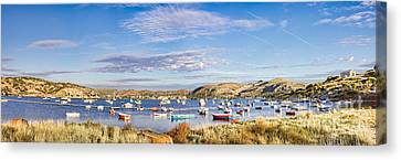 Anavyssos Bay Canvas Print by Gabriela Insuratelu