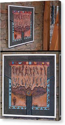Ancestral Chart- Hunter Gatherers - Jakt Og Sanking - Jaegara Samlare - Sammler Jaeger Canvas Print by Urft Valley Art