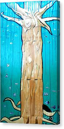 Ancestral Tree Indians To The Sea Canvas Print