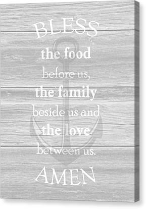 Anchor Blessing Canvas Print by Inspired Arts