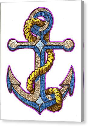 Anchor Colorized Canvas Print