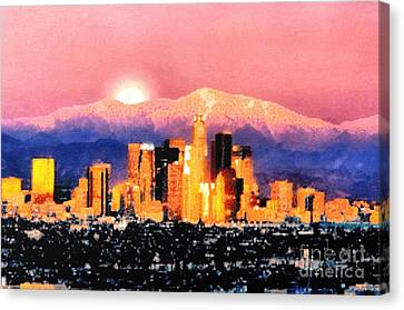 Anchorage Canvas Print by Elaine Ossipov