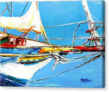 Anchored 2 Canvas Print by Marti Green