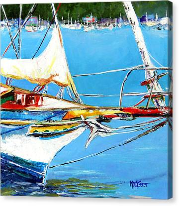 Anchored Canvas Print by Marti Green