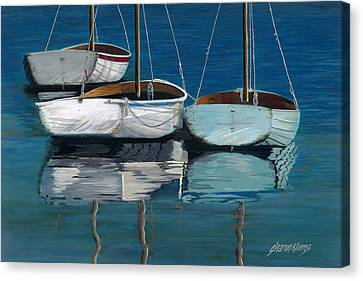 Anchored Reflections I Canvas Print by Sharon Kearns