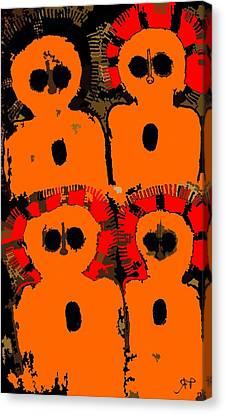 Ancient Aboriginal Aliens Canvas Print