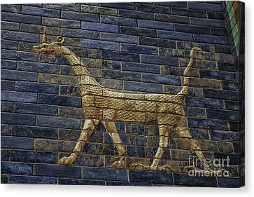 Ancient Babylon Dragon Canvas Print