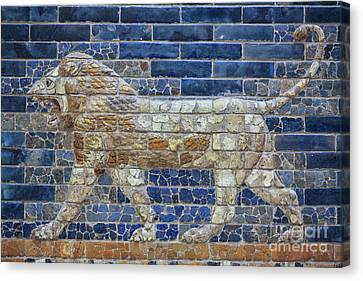 Ancient Babylon Lion Canvas Print by Patricia Hofmeester