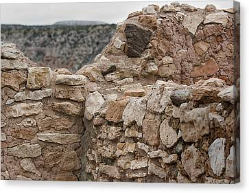 Canvas Print featuring the photograph Ancient Buildings by Phyllis Denton
