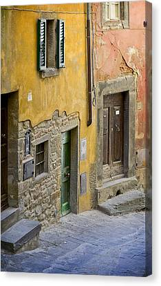 Tuscan Entrance Cortona Canvas Print
