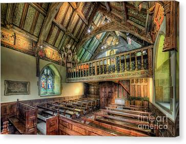 Ancient Chapel Interior Canvas Print by Adrian Evans