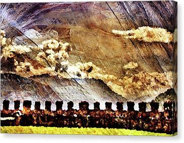 Ancient Citadel Canvas Print by Andrea Barbieri
