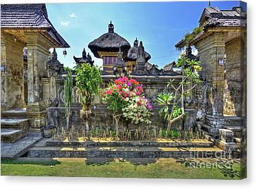 Bamboo House Canvas Print - Ancient City Of Bali - Penglipuran by Kevin Oconnell