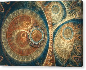 Ancient Clockwork Canvas Print by Martin Capek