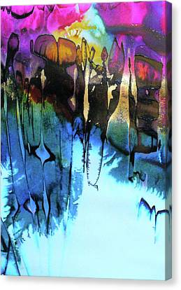 Canvas Print featuring the painting Ancient Echoes by Mary Sullivan