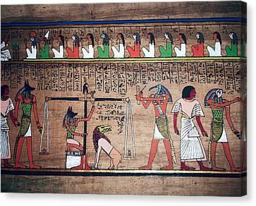 Ancient Egypt Underworld Court Of Final Judgement Canvas Print
