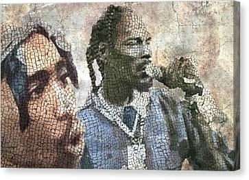 Gangsta Rap Mosaic 2 Canvas Print by Jani Heinonen