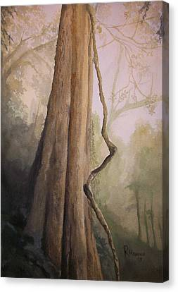 Canvas Print featuring the painting Ancient Life by Rachel Hames