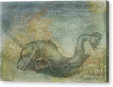 Ancient Mapping Canvas Print by Kelley Freel-Ebner