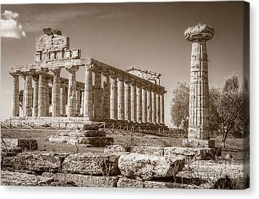 Ancient Paestum Architecture Canvas Print