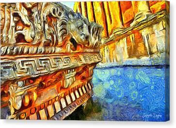 Ancient Remembrances - Da Canvas Print by Leonardo Digenio