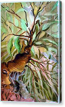 Ancient Roots Canvas Print by Mindy Newman