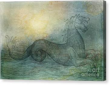 Ancient Seas Canvas Print by Kelley Freel-Ebner