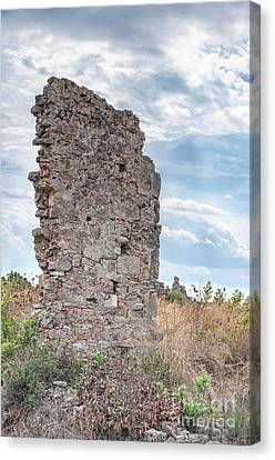Ancient Shop Ruins In Side Canvas Print by Antony McAulay