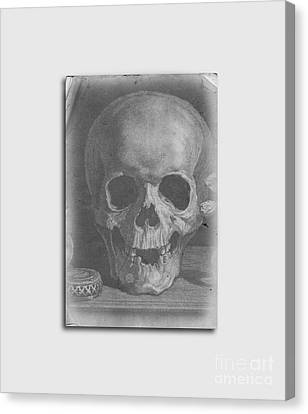 Ancient Skull Tee Canvas Print by Edward Fielding