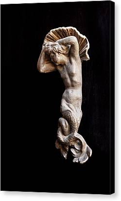 Ancient Statue Of The Virgin Of The Sea Canvas Print