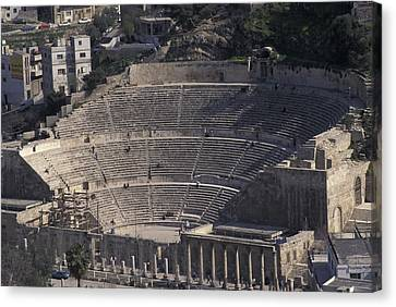 Ancient Theater In Ancient Roman City Canvas Print by Richard Nowitz