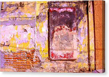 Ancient Wall 7 By Michael Fitzpatrick Canvas Print by Mexicolors Art Photography