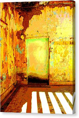 Ancient Wall 8 By Michael Fitzpatrick Canvas Print by Mexicolors Art Photography