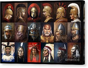 Ancient Warriors Canvas Print by Arturas Slapsys